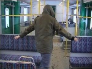 Klara Lidén: Paralyzed, 2003, Videoinstallation.