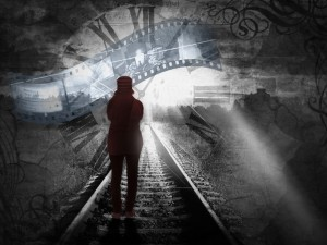 Das Individuum alleine mit der Zeit (Quelle und Urheber: pixelio.de/ Wolfgang Pfensig)