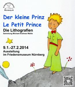 """Plakat zur Ausstellung """"Der kleine Prinz"""" (Quelle: Friedensmuseum Nürnberg e. V.)."""