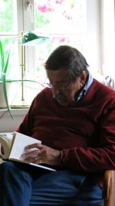 """Nobelpreisträger Grass liest """"Kleckerburg"""" (Foto: Jenny Horn)"""