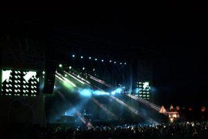 Das Publikum feierte mit Lari Luke bis tief in die Nacht auf der Festwiese. Bild: Frank Lerke