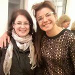 Bei der Eröffnung der Ausstellung mit Alicia Framis. Bild: Anna Levandovska